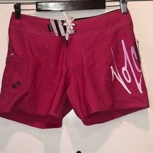 NWT volcom hot pink board shorts size 3